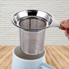 Aço inoxidável reutilizável chá coador chá mate sliver malha folha de chá spice filtro chá infusor sopa utensílios de cozinha ferramentas