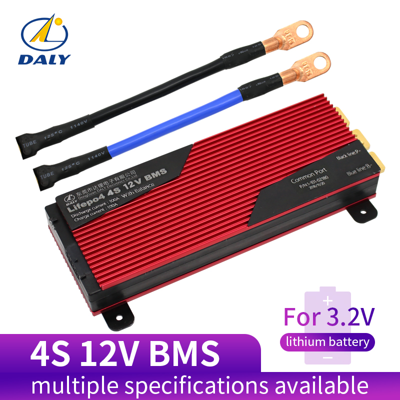 Placa de Proteção da Bateria com Equilíbrio para Lili 120a 200a Lifepo4 18650 Pcm Ion Lipo Bateria Bloco Módulo Bms 3.2 v 4s 80a