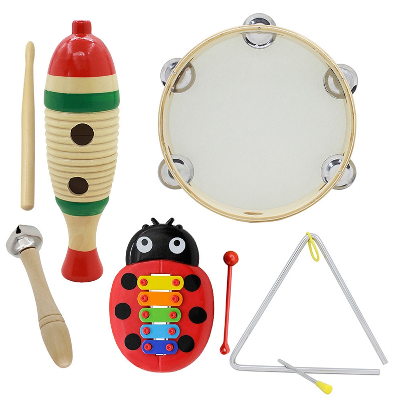 5 Set Orff Musical Instruments Set Children Early Childhood Music Percussion Toy Combination Kindergarten Teaching Aids