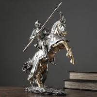 European Knight Armor Decoration Home Living Room Wine Cabinet Office Home Room Decorations Accessories Crafts Furnishings