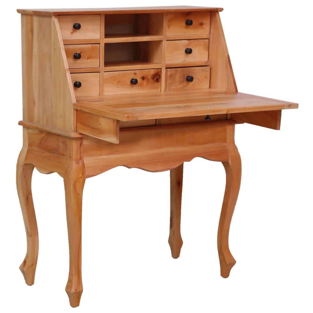 VidaXL Secretary Desk 78x42x103 Cm Solid Mahogany Wood