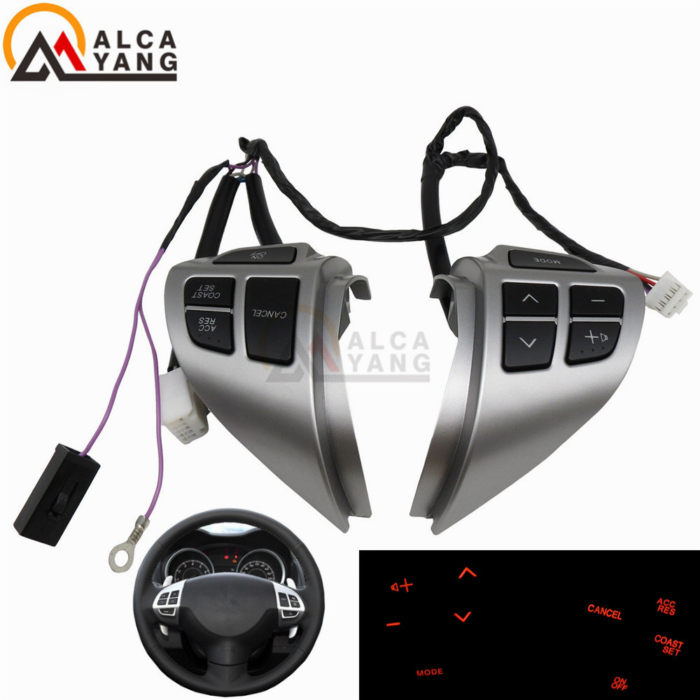 Кнопки для стайлинга автомобилей для Mitsubishi ASX многофункциональные кнопки управления рулем автомобиля с кабелями Бесплатная доставка