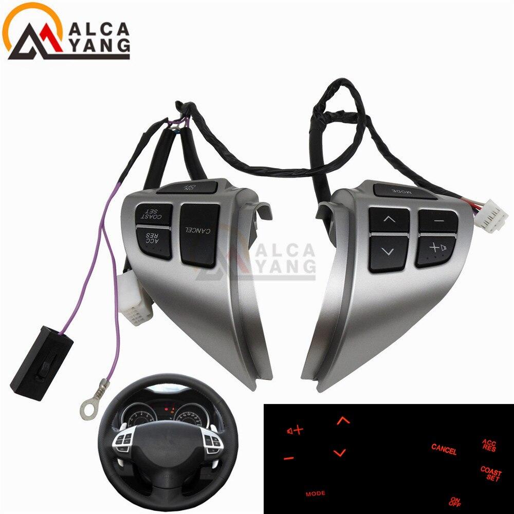 Araba-styling düğmeler Mitsubishi ASX için çok fonksiyonlu araba direksiyon kontrol düğmeleri ile kabloları ücretsiz kargo