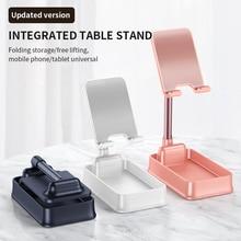 Portable Cell Phone Holder Folding Phone Tablet Holder Universal Desktop Tablet Stand Non Slip Mobile Phone Stand Mount for iPad