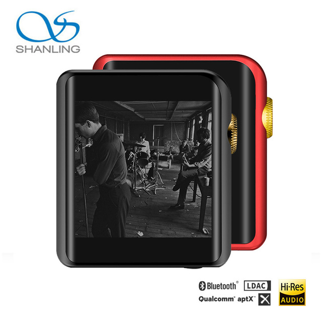 Newest Shanling M0 limited edition Hi Res Bluetooth Touch Screen Portable Music mp3 player, Two choices: Black gold or Red gold