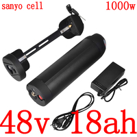 48V 500W 750W 1000W Lithium battery 48V 18AH electric bicycle battery 48V 17AH 17.5AH 14AH 10AH ebike battery use sanyo cell