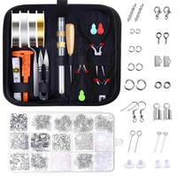 Jewelry Making Tools Kit, Jewelry Making Supplies Wire Wrapping Kit with Beading Needles, Jewelry Pliers, Elastic String and Ear