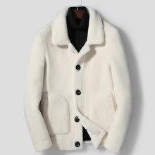 Fur Coat Jackets Suede Winter Mens Genuine Wool Double-Side-Wear Male Hombre Ropa