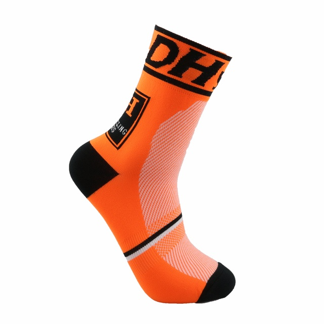 Alta qualidade marca profissional ciclismo esporte meias proteger pés respirável wicking meias ciclismo meias meias bicicletas 4