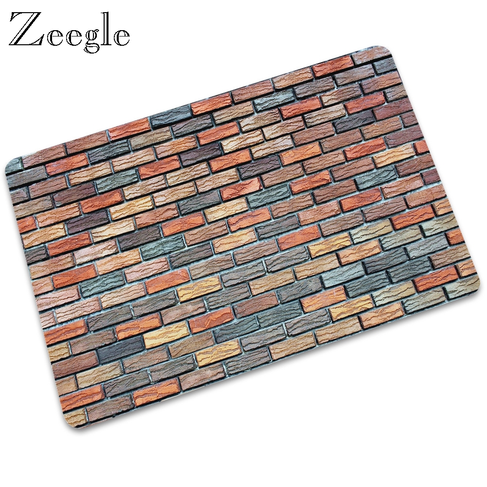 Zeegle Waterproof Out Mat Home Entrance Foot Mat Hallway Floor Rug Doormat Anti-slip Rubber Outdoor Carpet Bathroom Shower Mat