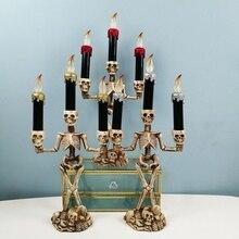 Halloween Horror Decorative Candle Light Body Skeleton Candle Light Halloween Atmosphere Decoration