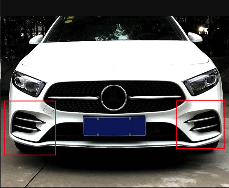 4 Pcs lot Plastic ABS Chrome Stickers Trim Cover for Mercedes Benz A Class W177 A180 A200 Sports Line Accessories Car Styling