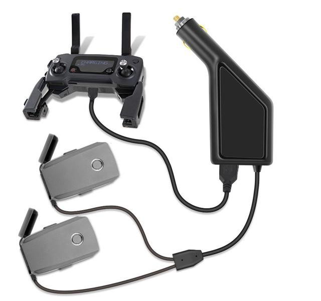 Car Charger For DJI Mavic 2 Pro Zoom Intelligent Battery Charging Hub Mavic 2 Pro Car Connector USB Adapter Battery Car Charger