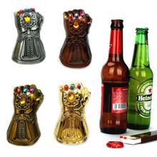 Kuchnia akcesoria barowe otwieracze domowe kreatywny otwieracz do piwa wielofunkcyjny nieskończoność Thanos rękawica rękawica Soda szklana czapka Remover 35 tanie tanio Zaopatrzony Ekologiczne Piwo Ze stopu cynku Infinity Thanos Gauntlet Glove Beer Bottle Opener