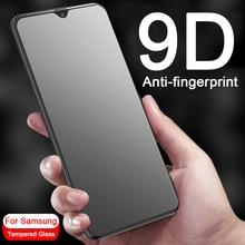 Protetor de tela 9d anti-impressão digital, para samsung galaxy a10 a20 a30 a40 a50 a70 a 10 20 30 40 vidro temperado protetor 50 70 9h