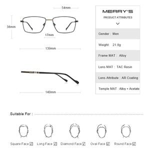 Image 4 - MERRYS дизайн мужские роскошные очки оправа близорукость по рецепту очки Оптическая оправа Бизнес Стиль S2107