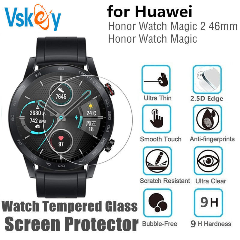 10PCS Tempered Glass Screen Protector For Huawei Honor Watch Magic 2 46mm Round Sport Smart Watch Protective Film