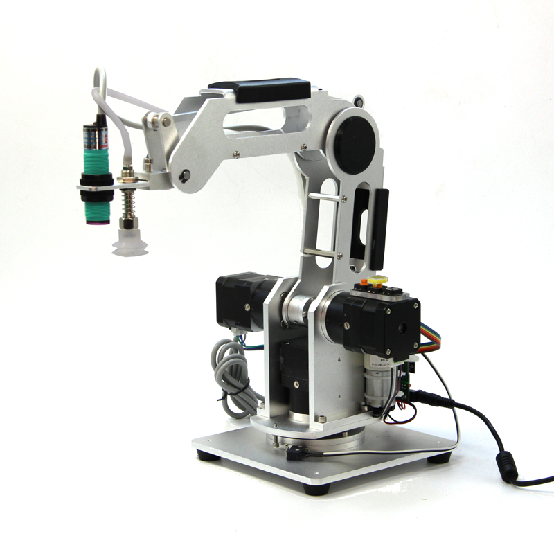 Mechanical Arms Industrial Robot 3-Axis Planetary Reducing Step Motor Desktop Robot Mobile Phone APP Control