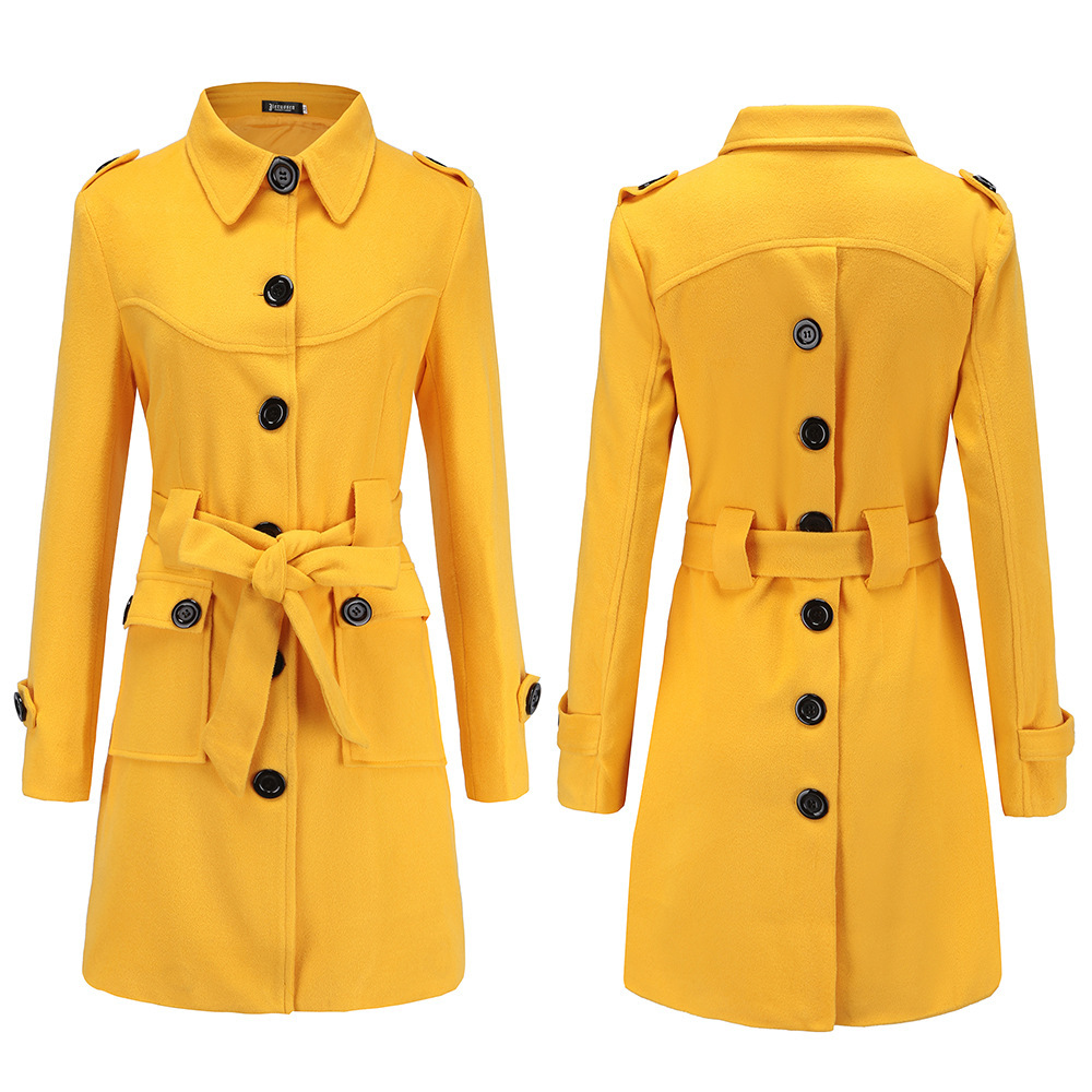 2019 Fashion Women Thin   Trench   Coat Turn-down Collar Patchwork Long   Trench   Coat Slim Plus Size Wind coat Business Outerwear