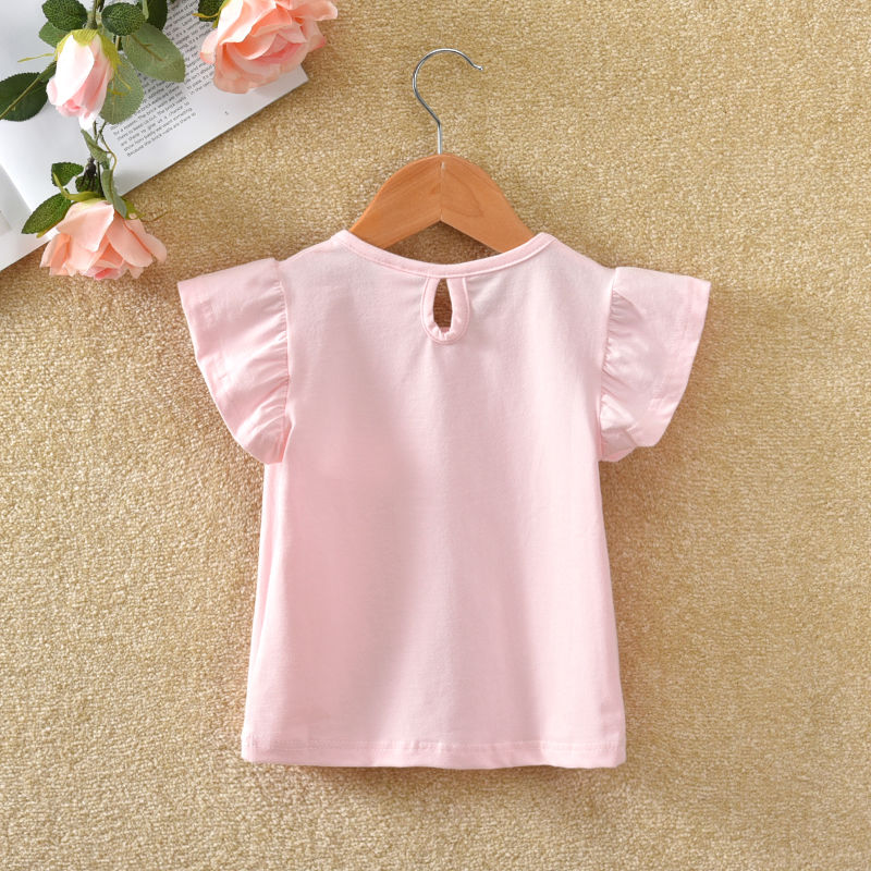 VIDMID Summer Fashion  T-shirt Children Girls Short Sleeves  Tees Baby Kids Cotton Tops For Girls Clothes 1- 7Y  P1054 2