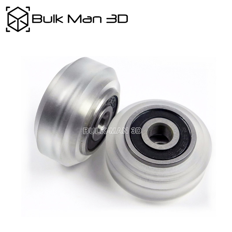 Poly Carbonate Xtreme Solid V wheel Assy for V Slot Rail , OX CNC WorkBee CNC ,3D Printer Solid Wheel-in 3D Printer Parts & Accessories from Computer & Office