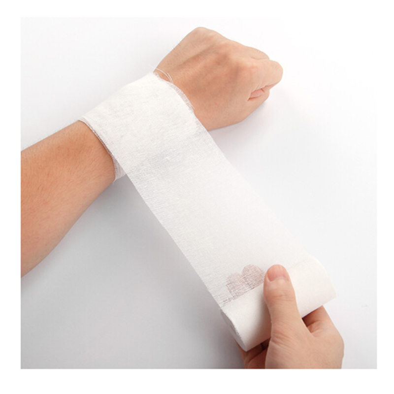 DR.ROOS 1 Roll 5cmx600cm Gauze Bandage First Aid Package Gauze Roll Wound Dressing Medical Care First Aid Bandage