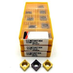 Image 3 - Inserto de carburo CCMT09T304 VP15TF UE6020 US735 herramienta de torneado de metal, herramienta de torno, fresa facial, herramienta CNC CCMT 09T308