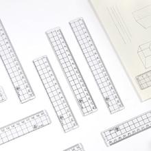 SaYing 15/18/20cm Acrylic Transparent Straight Ruler Kawaii Student Cutting Metric Ruler Tool School Drafting Stationery Supplie