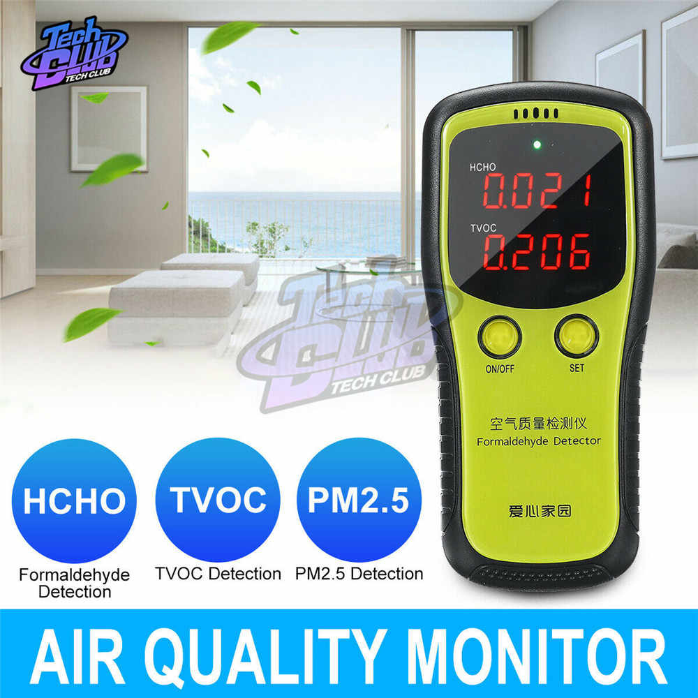 Lcd Digitale Scherm Draagbare Dioxide Meter CO2 Monitor PM2.5 Luchtkwaliteit Formaldehyde Detector Voor Home Office 2.2-3V