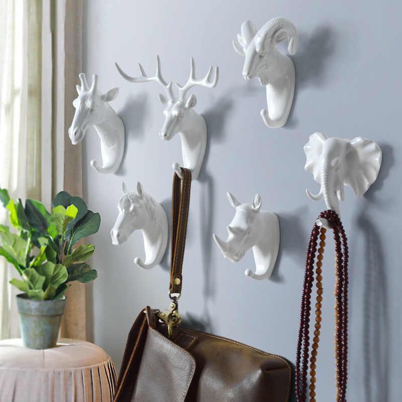 Cintre clés support de crochet créatif | Américain, crochet décoratif sans couture pour mur de maison, crochets d'animaux créatifs