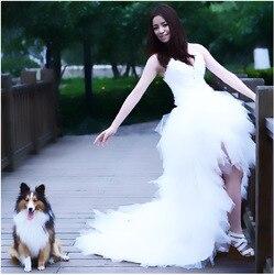 Gryffon Wedding Dress 2019 Strapless Wedding Gowns Elegant Feather Princess Luxury Wedding Dress Can Be Customized