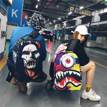 Men and women fashion backpack fashion nylon hip hop art unique large bag  mochila  bookbag - DISCOUNT ITEM  45% OFF All Category