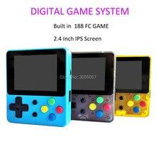 Jogo handheld portátil retro 2.4 Polegada ips tela 188 jogos para fc 8 bit mini jogador de vídeo digital melhor presente