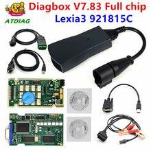 Lexia 3 pp2000 completo chip diagbox v7.83 com firmware 921815c lexia3 v48/v25 para ci-troen para pe-uobobdii diagnostic-tool