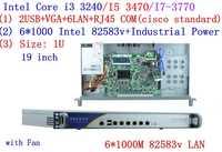 Intel Core I3 I5 I7 1U servidor cortafuegos de banda ancha VPN Router con 6*6 * lan Gigabit Mikrotik PFSense ROS, etc.