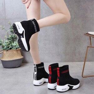 Image 5 - COOTELILI النساء الأحذية منصة أحذية الموضة الكعوب النساء حذاء كاجوال حذاء من الجلد امرأة أحذية رياضية 35 40