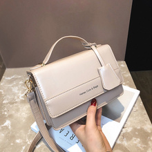 Fashion Letter Square Women Shoulder Bags chic Designer Handbags casual Pu Leather Female Crossbody Bag Small Flap Ladies Purse