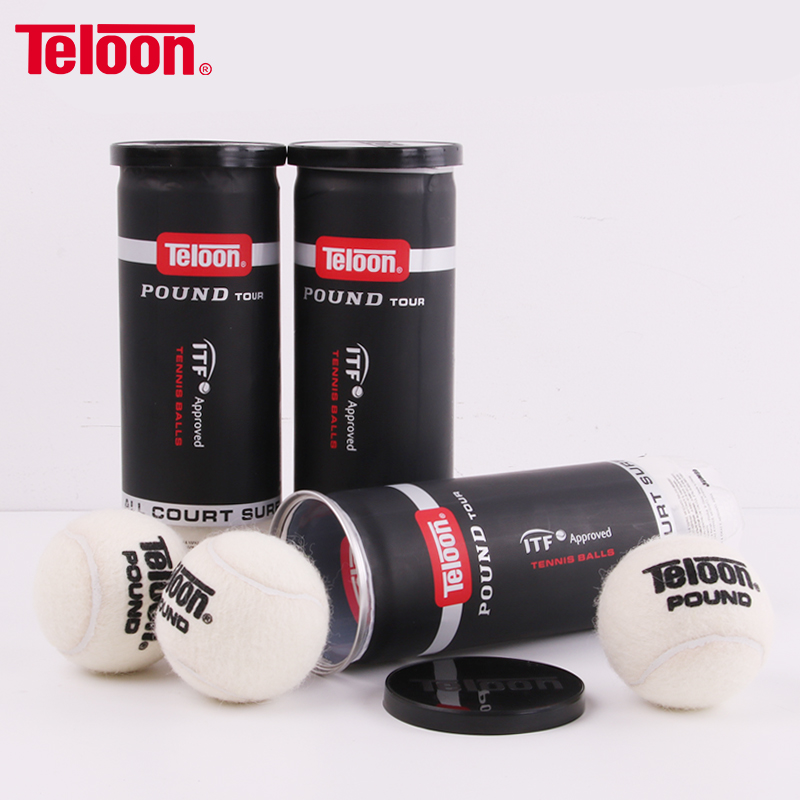 Teloon Competition Tennis Balls Pound-3 For Wimbledon Match High Elasticity Professional Tenis Practice Ball Top Quality K032SPA