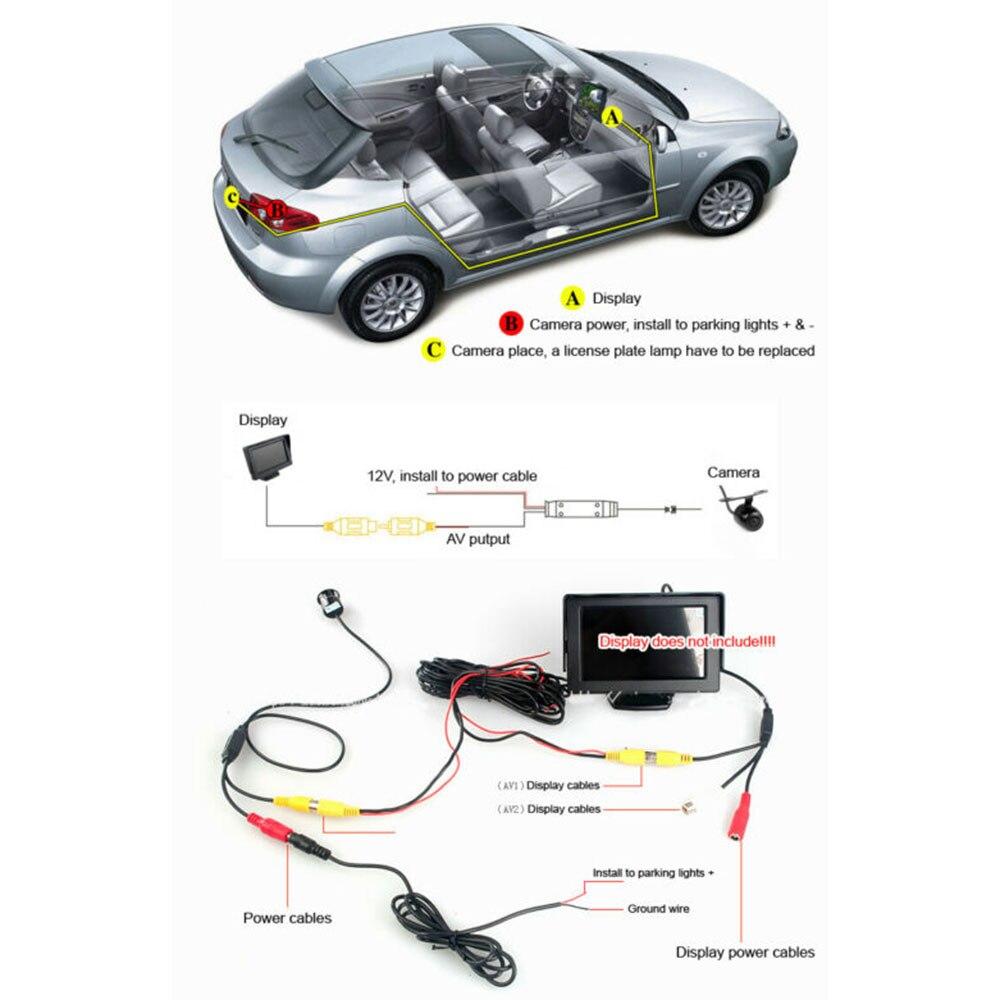1 шт. 4 LED камера заднего вида запасная камера заднего вида CCD для Mazda 6 Sedan 2013-2016 аксессуары парковочная помощь