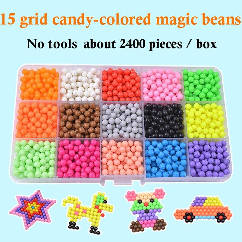 6000 PCS DIY Handmade Boy and Girl Toys Magic Water Mist Magic Stick Beads Water Stick Beads Water Spray Magic Beads Kids Toys