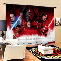 Stars Wars Movies Character Collection Polyester Window Curtains Boys Girl Bedroom Living Room Decor Custom Curtains