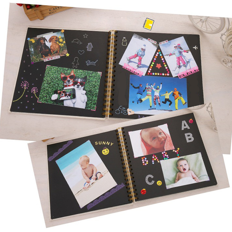DIY Paper Photo Album Photography Baby Scrapbooking Fotograf Albumu Loose-Leaf Fotoalbum Fotoalbum Kids Memory 20 Pages Book