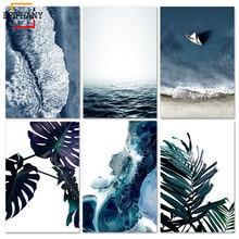 Тропическое украшение картина скандинавский океанский пейзаж