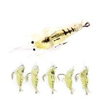3.5cm/1.5 g Lure artificial soft grass shrimp bait Shrimp smell Barb thorn Single hook 5pcs/lot