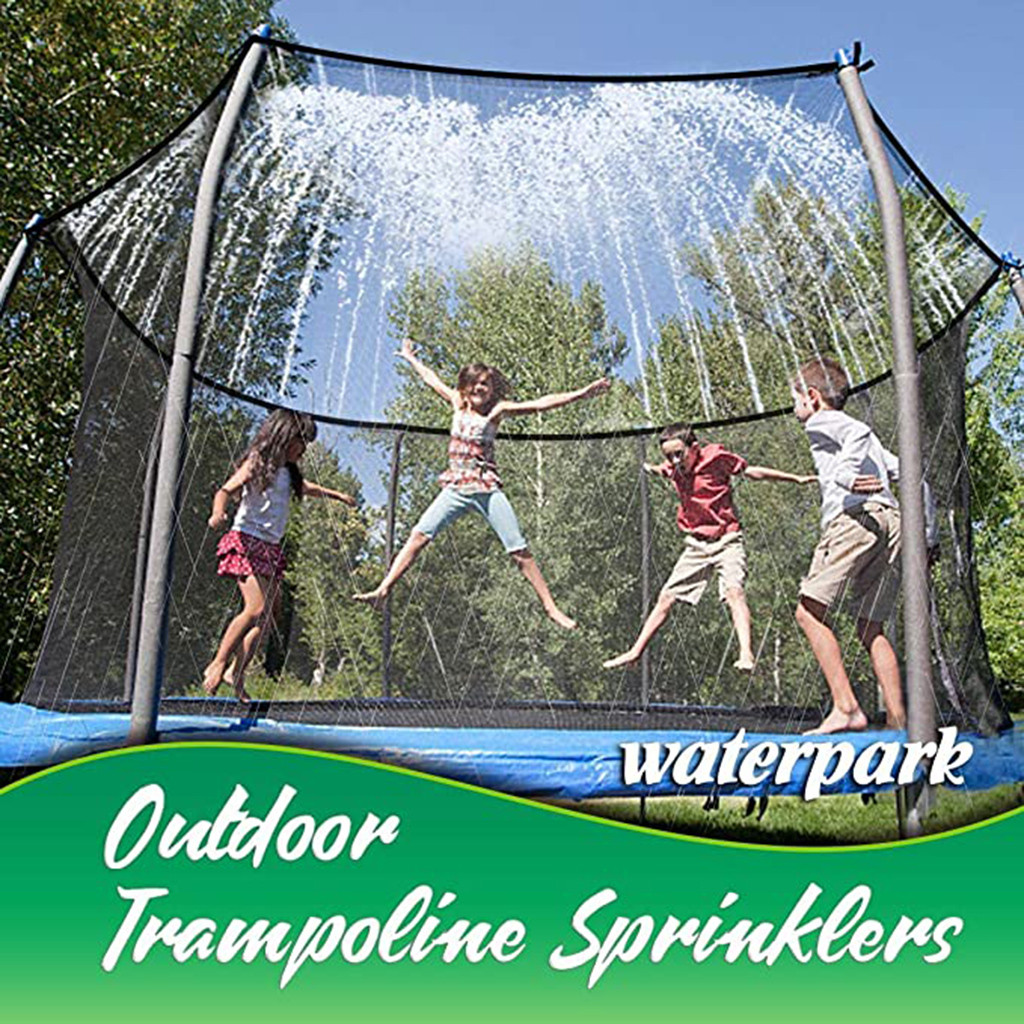 Children's Trampoline Sprinkler Durable Safe Multifunctional Water Cooling Pipe Toy For Outdoor Garden Yard Park