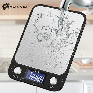 5-10kg/1g LCD Display Multi-function Digital Food Kitchen Scale Stainless Steel Weighing Food Scale Cooking Tools Balance