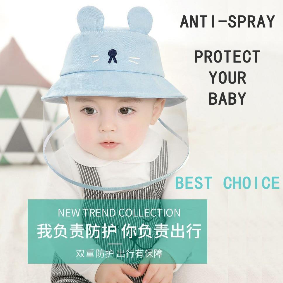 Baby Health Care Spray Proof Baby Fisherman Hat Anti-Saliva Anti-Droplet Anti-Dust Sunscreen UV Visor Hat Bucket Children's Hats