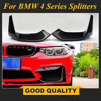 M3 M4 Carbon Fiber Front Bumper Splitter Corner Spoiler Lip For BMW F80 F82 F83 2014 +