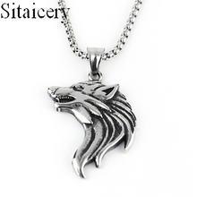 Животным волком ожерелья Модные нержавеющая сталь панк цепи