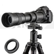 JINTU 420-800mm f/ 8.3 Lente de foco Manual Telefoto para Canon EOS 60D 77D 70D 80D 90D 650D 750D 800D 7D T7i T7s T7 T6s w/Saco